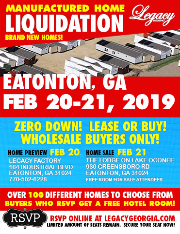Manufactured Home Liquidation Sale